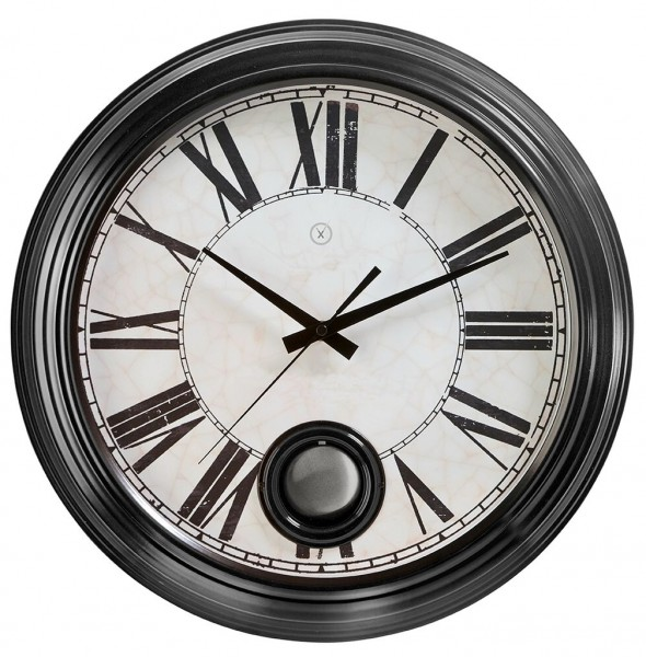 Sompex Clocks - Wanduhr London schwarz