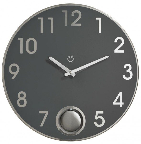 Sompex Clocks - Wanduhr Brussels anthrazit