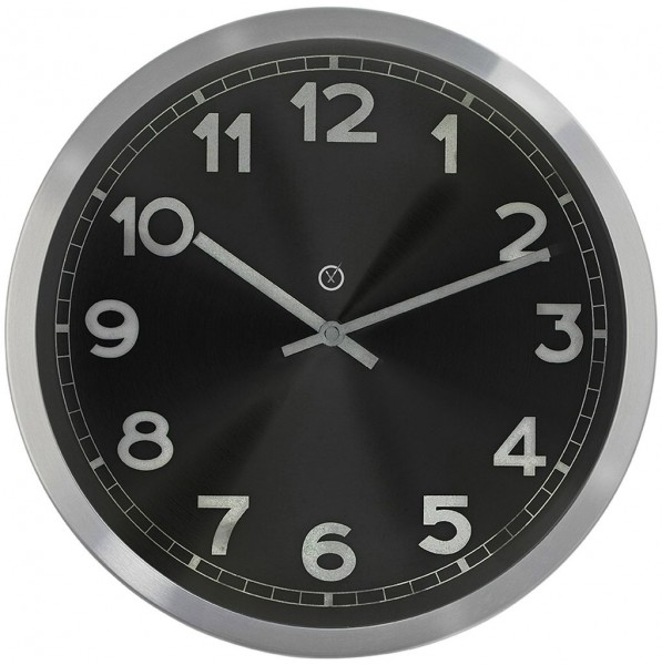 Sompex Clocks - Wanduhr Chicago schwarz