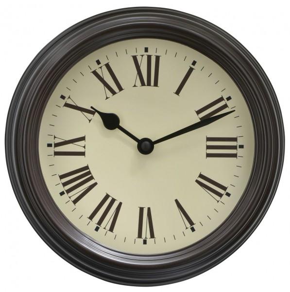 Sompex Clocks - Wanduhr Roma schwarz