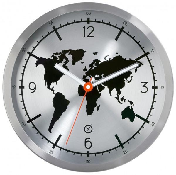 Sompex Clocks - Wanduhr Earth weiss