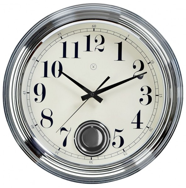 Sompex Clocks - Wanduhr London silber