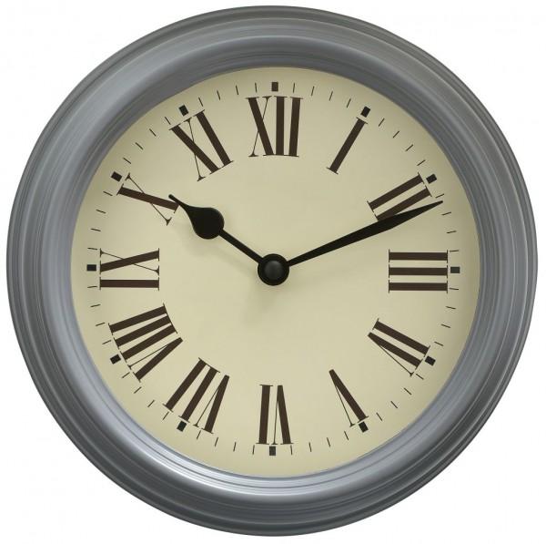 Sompex Clocks - Wanduhr Roma grau