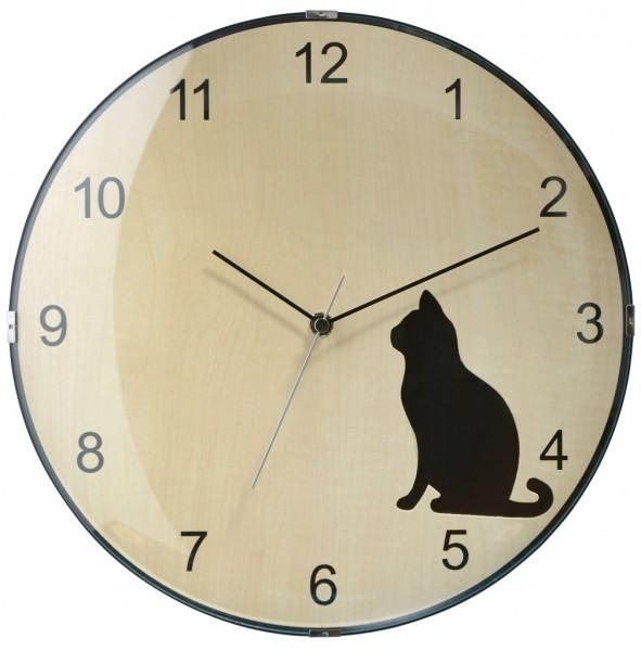 Sompex Clocks - Wanduhr Prague black cat