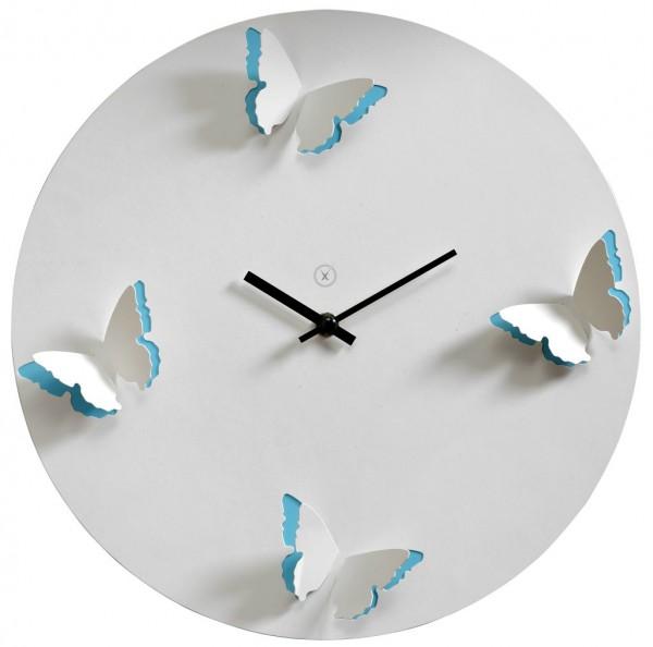 Sompex Clocks - Wanduhr Venice weiss-blau