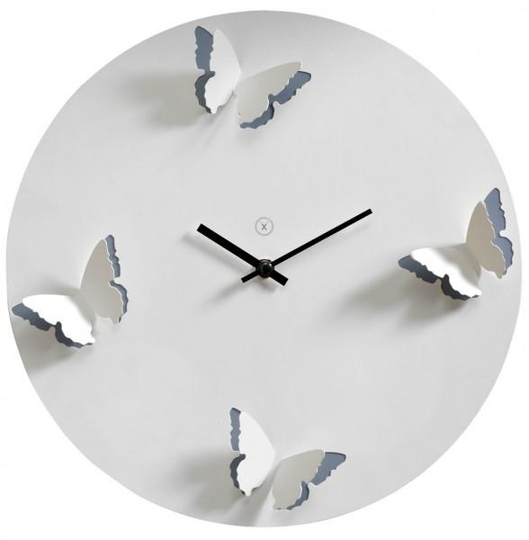 Sompex Clocks - Wanduhr Venice weiss-grau