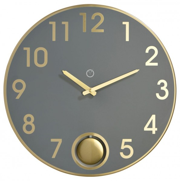 Sompex Clocks - Wanduhr Brussels grau