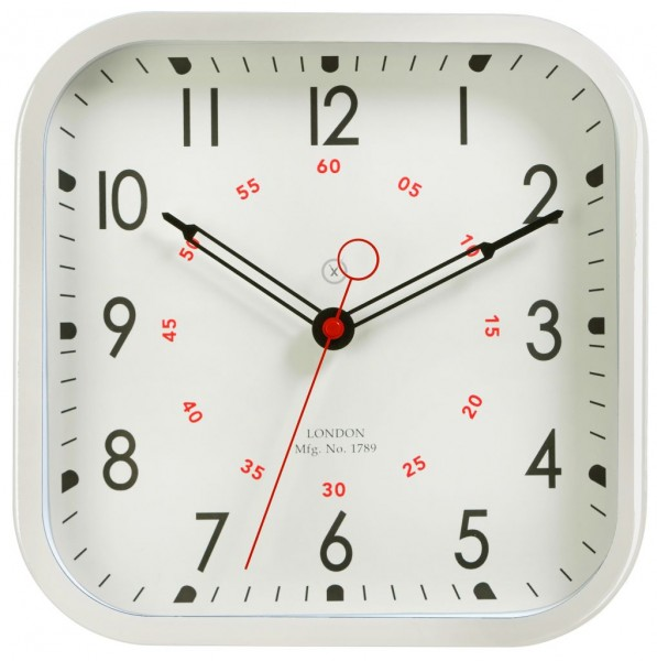 Sompex Clocks - Wanduhr Leeds weiss