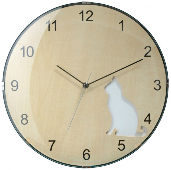 Sompex Clocks - Wanduhr Prague white cat