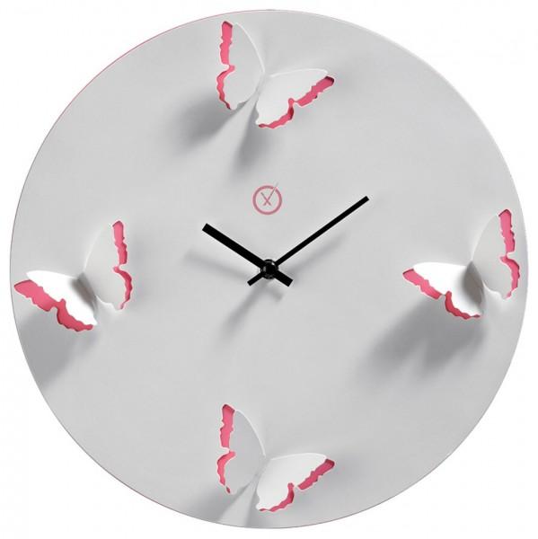 Sompex Uhren - Wanduhr Venice weiss-pink