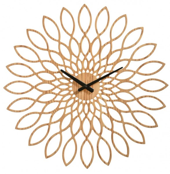 Sompex Clocks - Wanduhr Oslo hellbraun