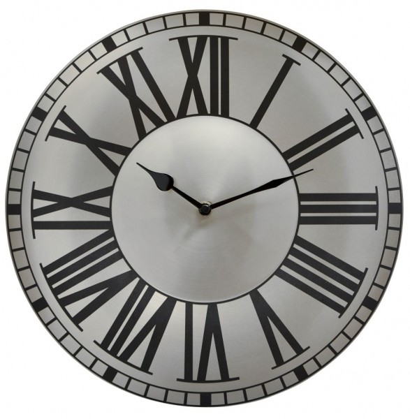Sompex Clocks - Wanduhr Bordeaux silber
